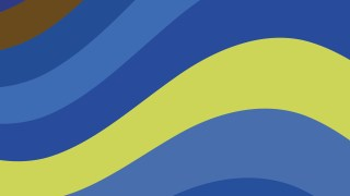 Blue and Yellow Curved Stripes Background Vector Art