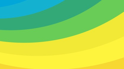 Blue Green and Yellow Curved Stripes Background Vector Illustration