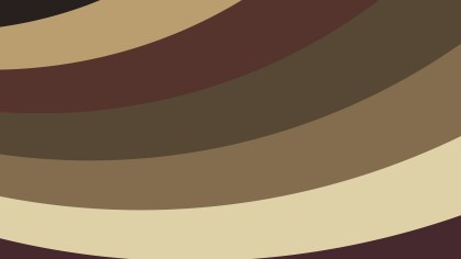 Brown Curved Stripes Background Vector Image