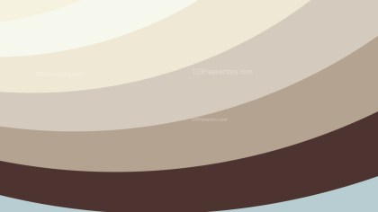 Brown and White Curved Stripes Background Vector Illustration