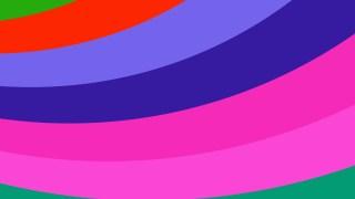 Colorful Curved Stripes Background Vector Illustration