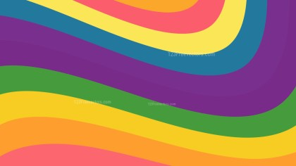 Colorful Curved Stripes Background Vector Illustration