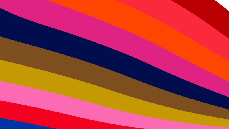 Colorful Curved Stripes Background Illustration