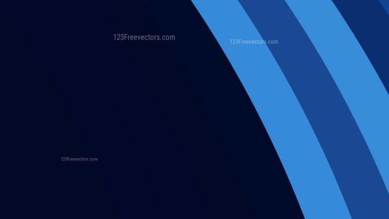 Dark Blue Curved Stripes Background Vector Art