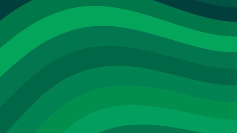 Green Curved Stripes Background Vector Illustration