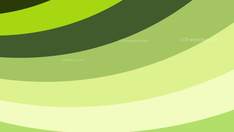 Green and Beige Curved Stripes Background Illustration
