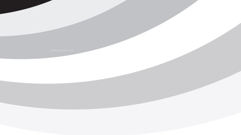 Grey and White Curved Stripes Background