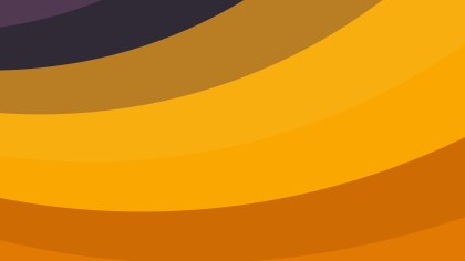 Orange Curved Stripes Background Illustration
