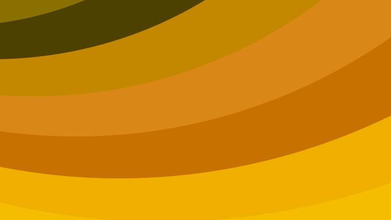 Orange Curved Stripes Background