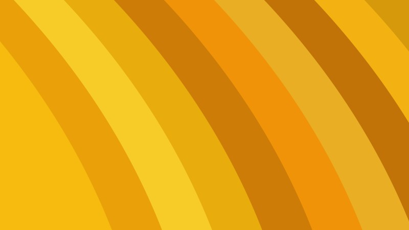 Orange Curved Stripes Background Vector Art