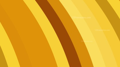 Orange Curved Stripes Background