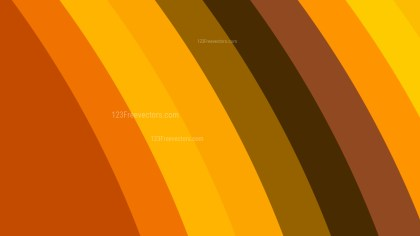 Orange Curved Stripes Background Vector Illustration