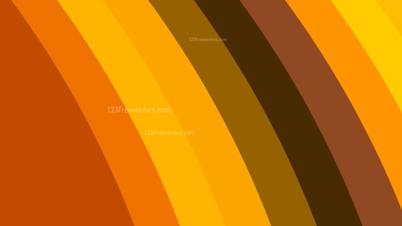 Orange Curved Stripes Background Vector Illustration