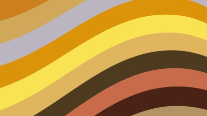 Orange and Brown Curved Stripes Background
