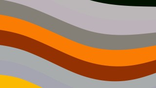 Orange and Grey Curved Stripes Background Vector Illustration