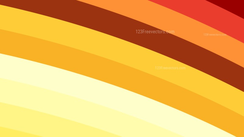 Orange and White Curved Stripes Background