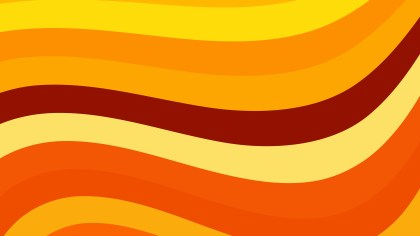 Orange and Yellow Curved Stripes Background Vector Art