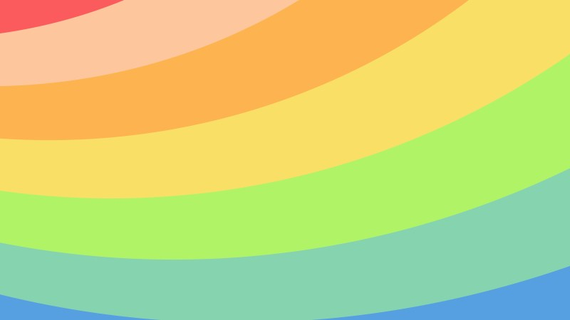 Pastel Rainbow Curved Stripes Background