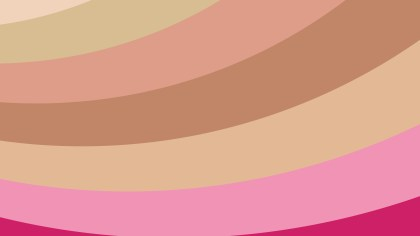 Pink and Brown Curved Stripes Background Vector Illustration