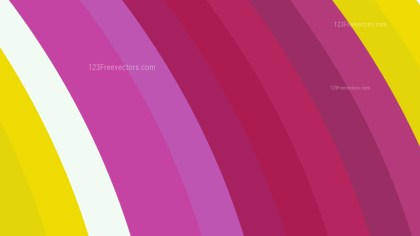 Pink Yellow and White Curved Stripes Background