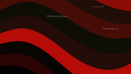 Red and Black Curved Stripes Background Vector Art