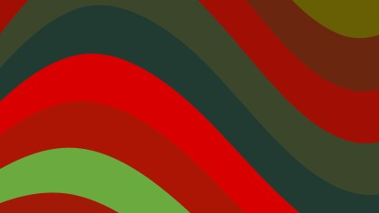 Red and Green Curved Stripes Background