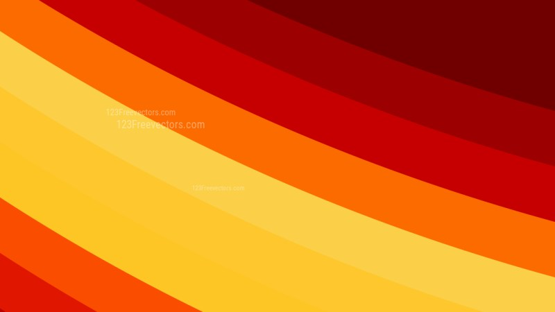Red and Yellow Curved Stripes Background