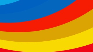 Red Yellow and Blue Curved Stripes Background Image