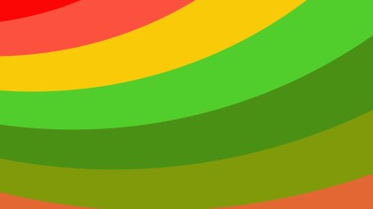 Red Yellow and Green Curved Stripes Background Image