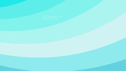 Turquoise Curved Stripes Background Vector Illustration