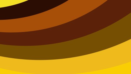 Yellow and Brown Curved Stripes Background