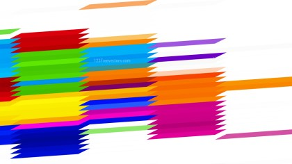 Colorful Horizontal Lines and Stripes Background Vector