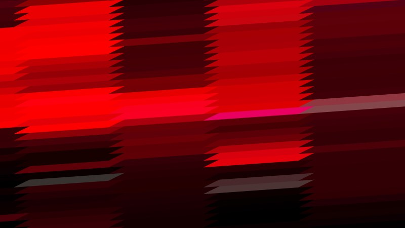 Abstract Cool Red Horizontal Lines and Stripes Background Design