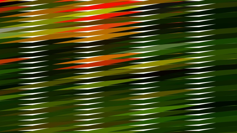 Orange and Green Horizontal Lines and Stripes Background Vector Graphic