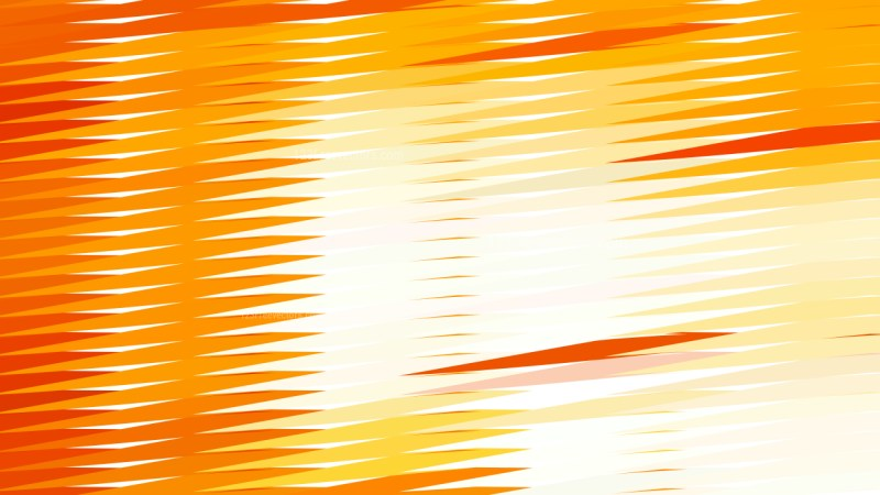 Abstract Orange and White Horizontal Lines and Stripes Background Design