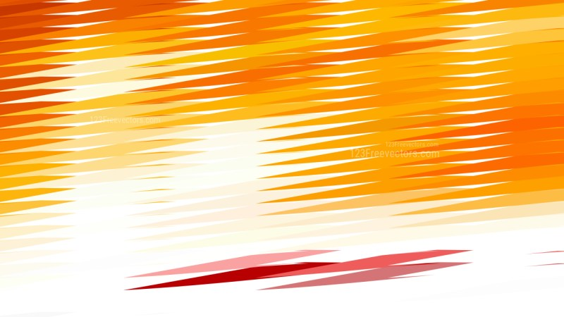 Abstract Orange and White Horizontal Lines and Stripes Background