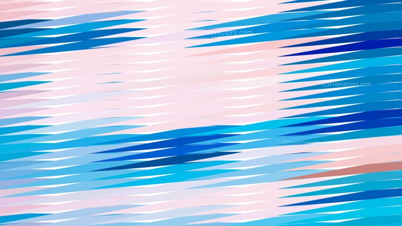 Pink and Blue Horizontal Lines and Stripes Background Vector