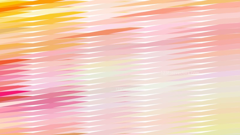 Abstract Pink Yellow and White Horizontal Lines and Stripes Background