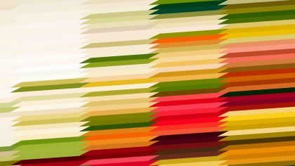 Red Green and Orange Horizontal Lines and Stripes Background Vector