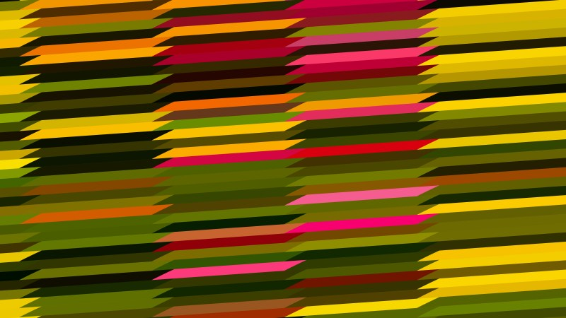 Red Green and Orange Horizontal Lines and Stripes Background