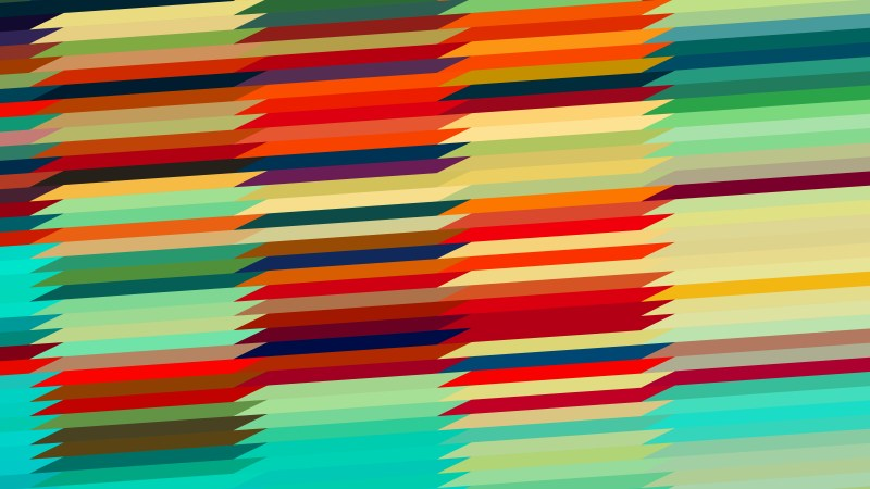 Red Green and Orange Horizontal Lines and Stripes Background Illustrator
