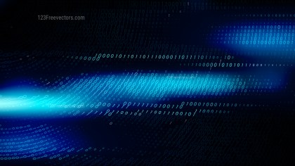 Black and Blue Binary Code Background Vector Art