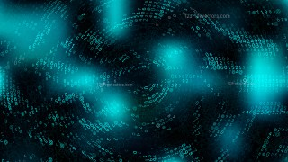 Black and Turquoise Binary Code Background