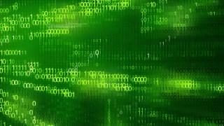 Dark Green Binary Background Vector
