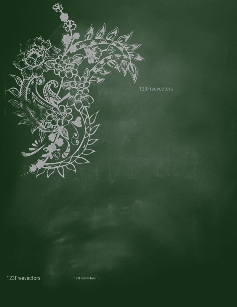 Green Chalkboard Background Image