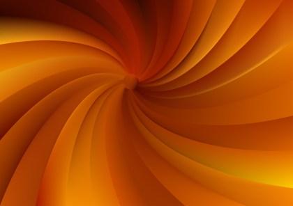 Dark Orange Spiral Background Design