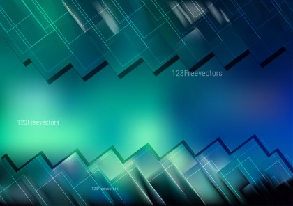 Abstract Black Blue and Green Modern Geometric Shapes Background