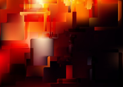 Abstract Black Red and Orange Modern Geometric Shapes Background