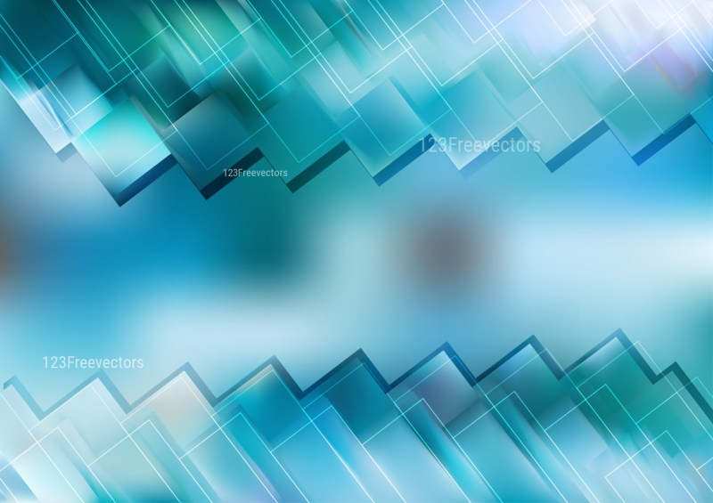 Abstract Blue Modern Geometric Background Illustration
