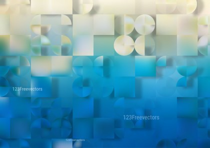 Abstract Blue and Beige Geometric Shapes Background Vector